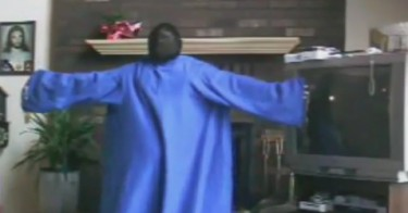 Dog Crashes Snuggie Dance Party