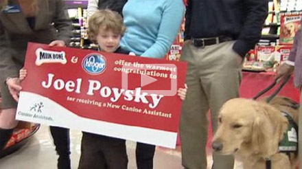 Service Dog Donated to Houston Child with Muscular Dystrophy