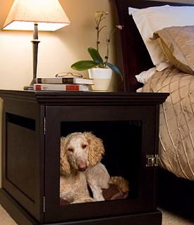 Giveaway: $400 DenHaus Mahogany Dog Crate