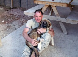 Army Sergeant Brian Assanowicz and Sultan