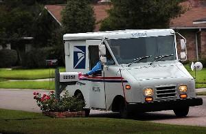 Dog Attacks Postal Truck