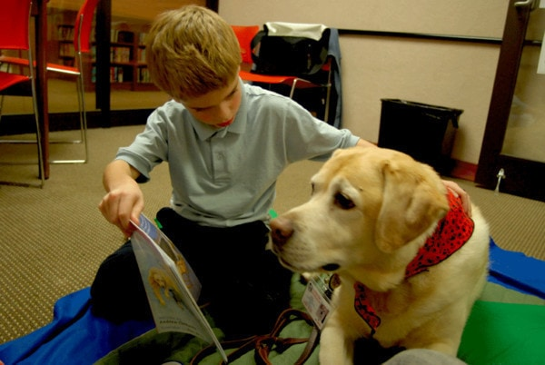 Therapy Dogs Help Kids Get Hooked on Reading