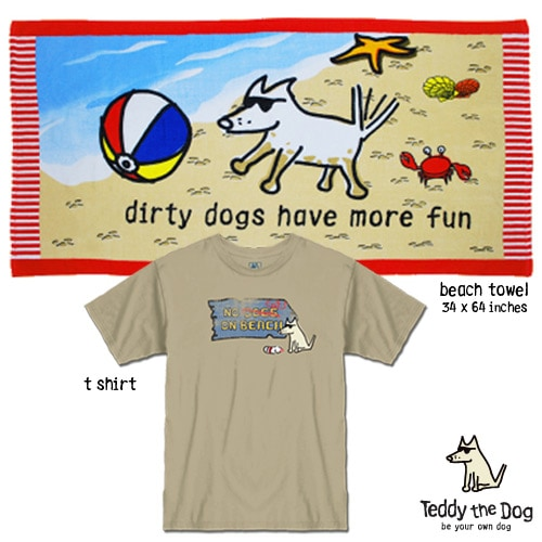 Giveaway: Teddy the Dog T-shirt & Beach Towel