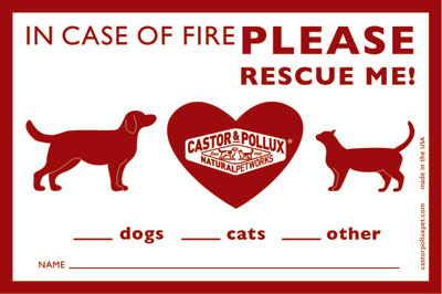 Free Fire Safety Clings for Life With Dogs Readers