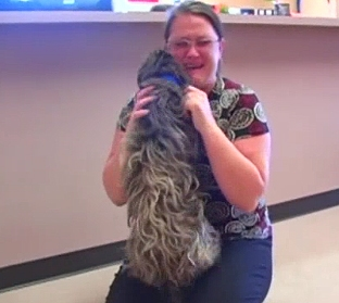 Emotional Reunion for Lost Dog and Owner