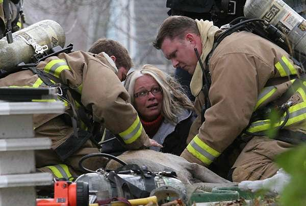 Dramatic Fire Rescue, Resuscitation Captured on Camera