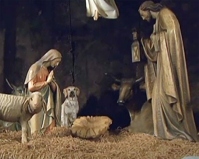 St. Patrick's Cathedral Adds Dog To Nativity Scene