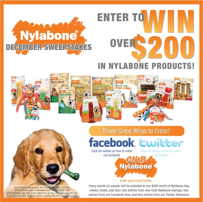 Nylabone December Sweepstakes