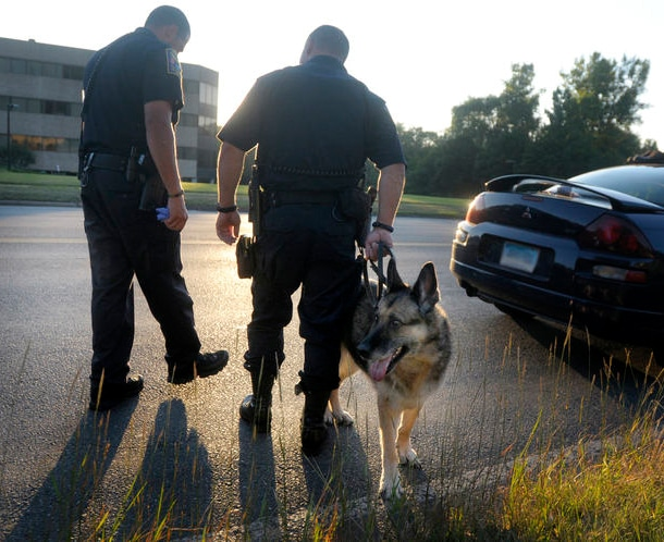 Police Dog Takes One Last Ride