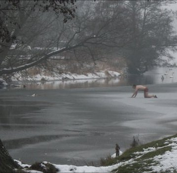 Man Crawls Across Frozen River in Underwear to Rescue Dog