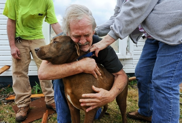 Man Reunited With Dog After Deadly Tornado Outbreak (VIDEO)