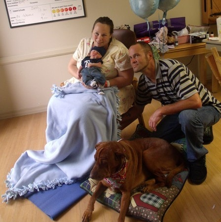 Mother's Labor Eased by Service Dog