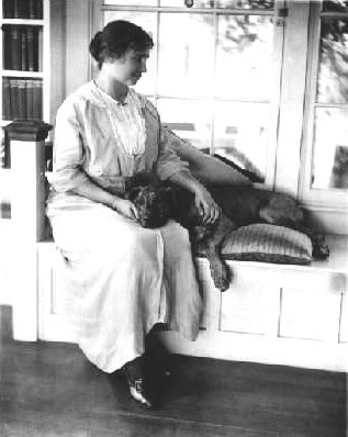 helen keller with her pitbull