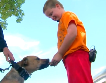 7 Year Old Boy Sells Snow Cones to Raise Money for Police K-9 Program