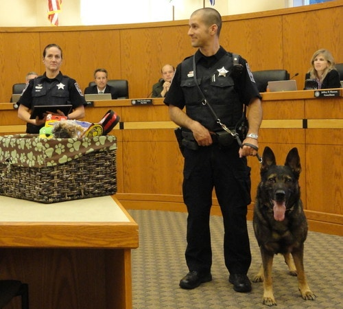 Police Canine Retires from Police Force After 8 Years of Service