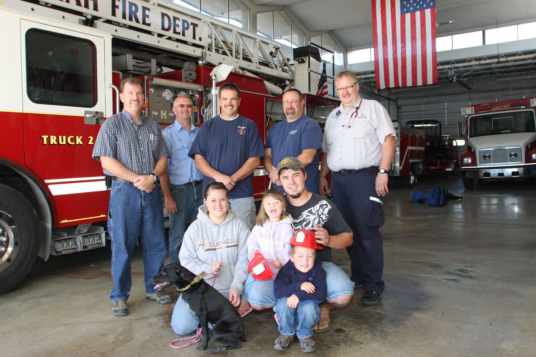 Hailey is Rescued from Iowa Cliff by Volunteer Firefighters