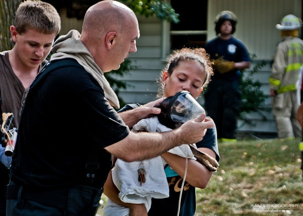Firefighters Trained to Save Animals Give Family a Chance to Say Goodbye to Their Pet