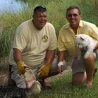 66-year-old man wrestles an alligator to save his best friend