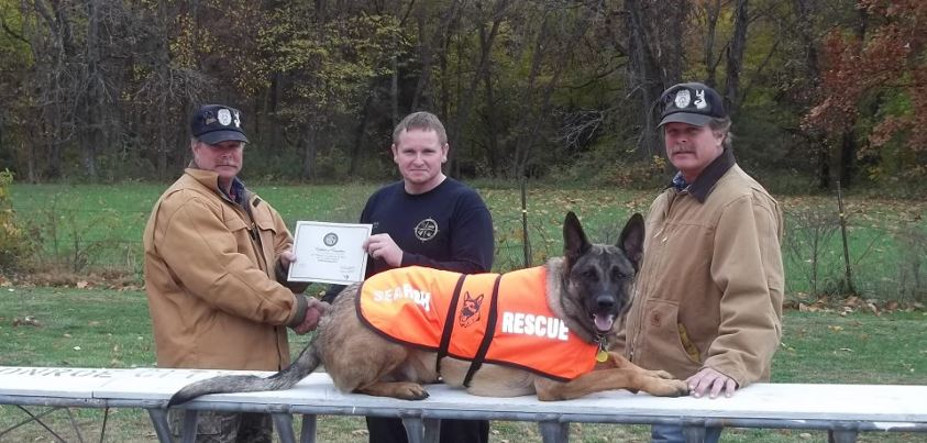Diesel: From death's row to certified search and rescue dog