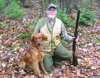 Close call for Golden Retriever caught in wolf trap
