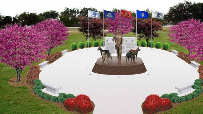 Military Working Dogs will be honored with new national monument