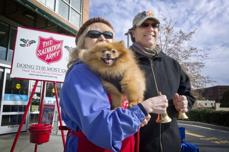 Dog helps raise money for the Salvation Army
