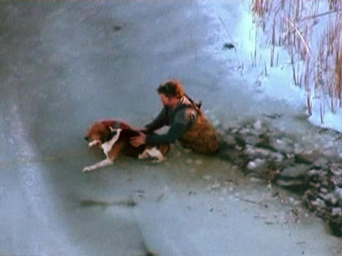 Dogs Heroically Rescued from Icy Deaths; Owners Strongly Urged to Keep Them Leashed