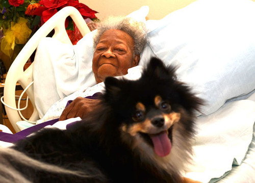 Injured elderly woman able to keep her dog thanks to help from the Faith program