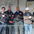 Firefighters save a litter of puppies