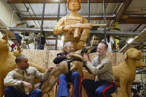 rose parade float to honor military working dogs and their. Black Bedroom Furniture Sets. Home Design Ideas