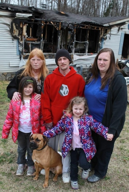 Dog prevents family of five from perishing in a fire