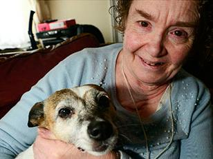 Dog saves blind elderly owner's life from fire