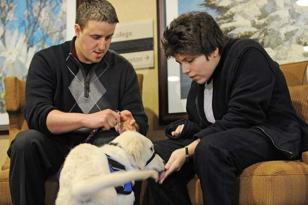 Injured Teen Meets Dog from Charlie Sheen for the First Time