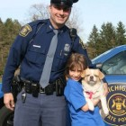 State trooper rescues 9 year old girl's lost dog