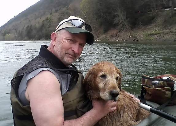 Lucky dog saved by kayakers on Chemung River