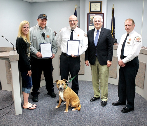 Firefighters Honored For Rescue Of Three Dogs