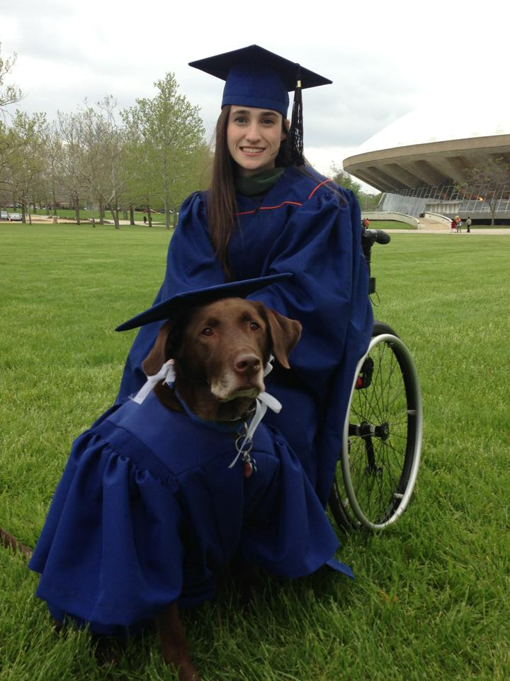 Picture of Service Dog Dressed in Cap and Gown at College Graduation Goes Viral