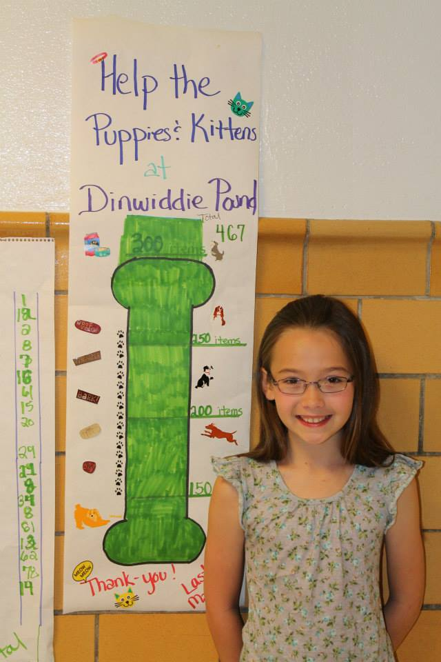 Fourth Grader Organizes Big Donation for Local Shelter