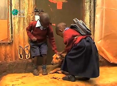 Kenyan Dog Adopts Two Children Abandoned by Mother