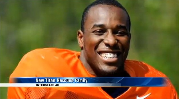 Tennessee Titans Rookie Saves Family & Dog from Burning Car