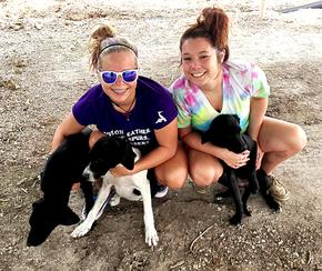 Teen Girls Save Puppies Abandoned on Texas Road