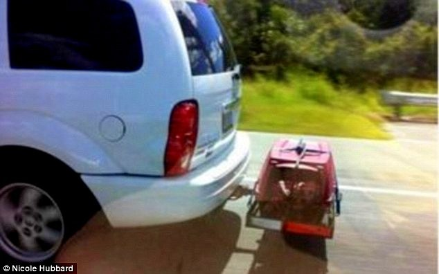 Animal Control Officer Tails & Rescues Dog Strapped to Back of Vehicle