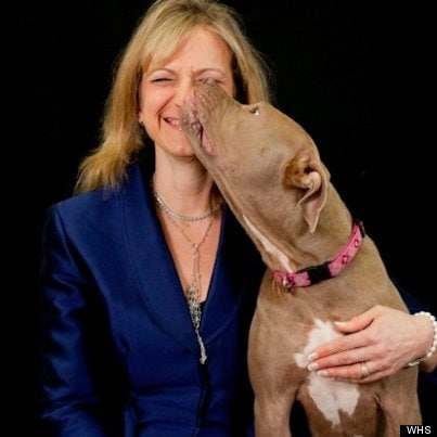 Lisa LaFontaine with her daughter's pibble, Lila.