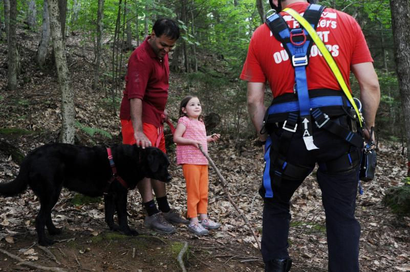 Firefighters Rescue Dog from Gorge