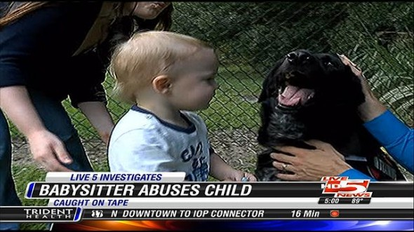 9.11.13 - Dog Detects Abusive Babysitter1
