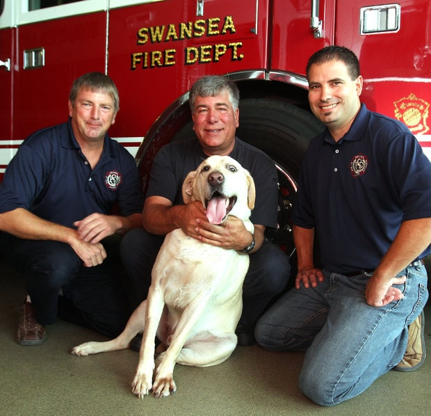 Dog Finds New Home with Firefighter who Saved his Life