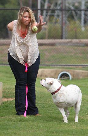 Woman and Dog Share Special Bond