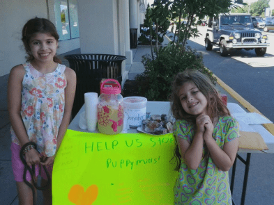 Young Sisters Raise Money to Stop Puppy Mills