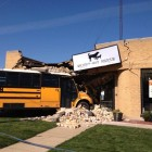School Bus Crashes into Animal Shelter Leaving Pets Homeless