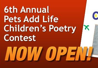 Entries Open For Pets Add Life Kids Poetry Contest